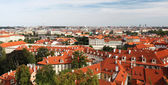 Tiled Roofs Of Old Houses in Prague — Stock Photo