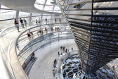Reichstag dome at the German parliament — Stock Photo