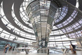Modern dome of Reichstag in Berlin — Stock Photo