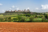 The medieval Village of Monteriggioni — Foto de Stock