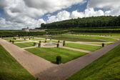 French garden in Chateau de Villandry — Stock Photo