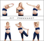 Fit pregnancy — Stock Photo