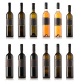 Wine bottle collection — Stock Photo