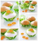 Decorated cupcakes — Stock Photo