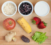 Ingredients for smoothie — Stock Photo