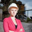 Business woman on working field — Stock Photo #49831397