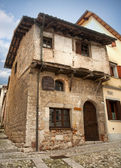 Medieval house in Cividale del Friuli — Stock Photo