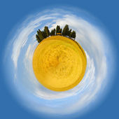 Little planet of Tuscany — Foto de Stock