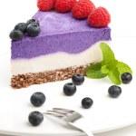 Raw blueberry vegan cake — Stock Photo #51227403