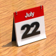 Calendar on desk - July 22nd — Photo