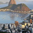 Sugarloaf and Guanabara Bay - 图库照片