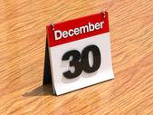 日历在桌上 — — 12 月 30 号 — 图库照片