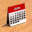 Calendar for June — Stock Photo