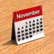 Calendar for November — Stock Photo