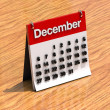 Calendar for December - Stock Photo