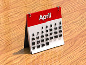 Calendar for April — Stock fotografie