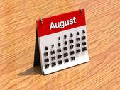 为日历 8 月 — 图库照片