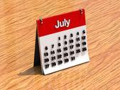 Kalender för juli — Stockfoto