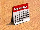 Calendar for November — Stock fotografie