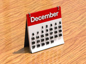 Calendar for December — Stock fotografie