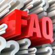 FAQ section — Stock Photo