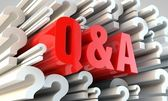 Question and answer — Stock Photo