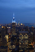 Empire State Building in New York at dusk — Stock Photo