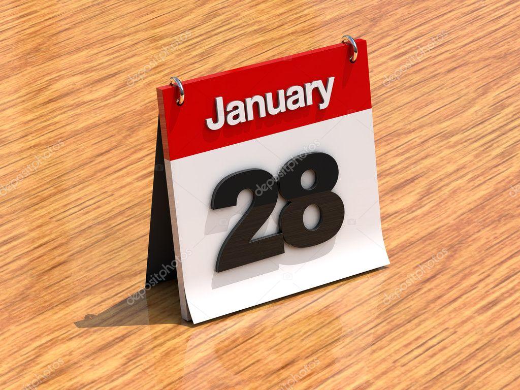 Calendrier sur le bureau 28 janvier photographie kasiastock1 8638696 - Calendrier sur le bureau ...