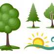 Symbolic trees — Stock Vector #13497652