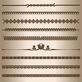 Dekoratif çizgiler. — Stok Vektör