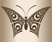 Tek renkli kelebek. — Stok Vektör