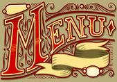 Vintage graphic element for menu — Stock Vector