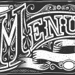 Vintage graphic element for menu — Stock Vector