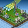 Stock Video: Isometric solar thermic plant in production of energy