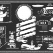 Vintage graphic element for bar menu — Stock vektor