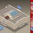 Isometric Greek Parliament — Stock Vector