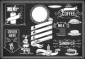 メニュー バーのヴィンテージのグラフィック要素 — ストックベクタ