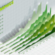 Infographic set elements in green — Stock Photo