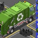 Isometric garbage truck — Stock Vector #21607671