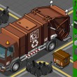 Isometric humid waste garbage truck — Stockvektor