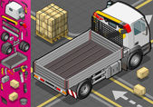 Isometric container truck — Stock Vector