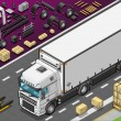 Isometric Frigo Truck in Front View - ベクター素材ストック
