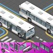 Royalty-Free Stock Vector Image: Isometric Bus with Opened Doors