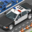 Royalty-Free Stock Vektorgrafik: Isometric Police Car in Front View
