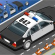 Royalty-Free Stock Vector: Isometric Police Car in Rear View
