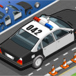 Royalty-Free Stock Vectorielle: Isometric Police Car in Rear View