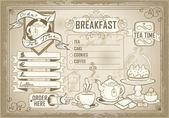 Vintage graphic element for bar menu — Stock Vector
