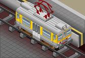 Isometric Electric Train — Stock Photo