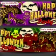 Stock Vector: Banners Invite for Halloween Party