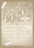 Vintage grafik seite für restaurant — Stockvektor